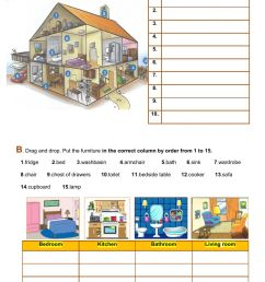Lexis and grammar - the house worksheet [ 1413 x 1000 Pixel ]