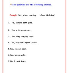 Yes No Questions worksheet [ 1291 x 1000 Pixel ]