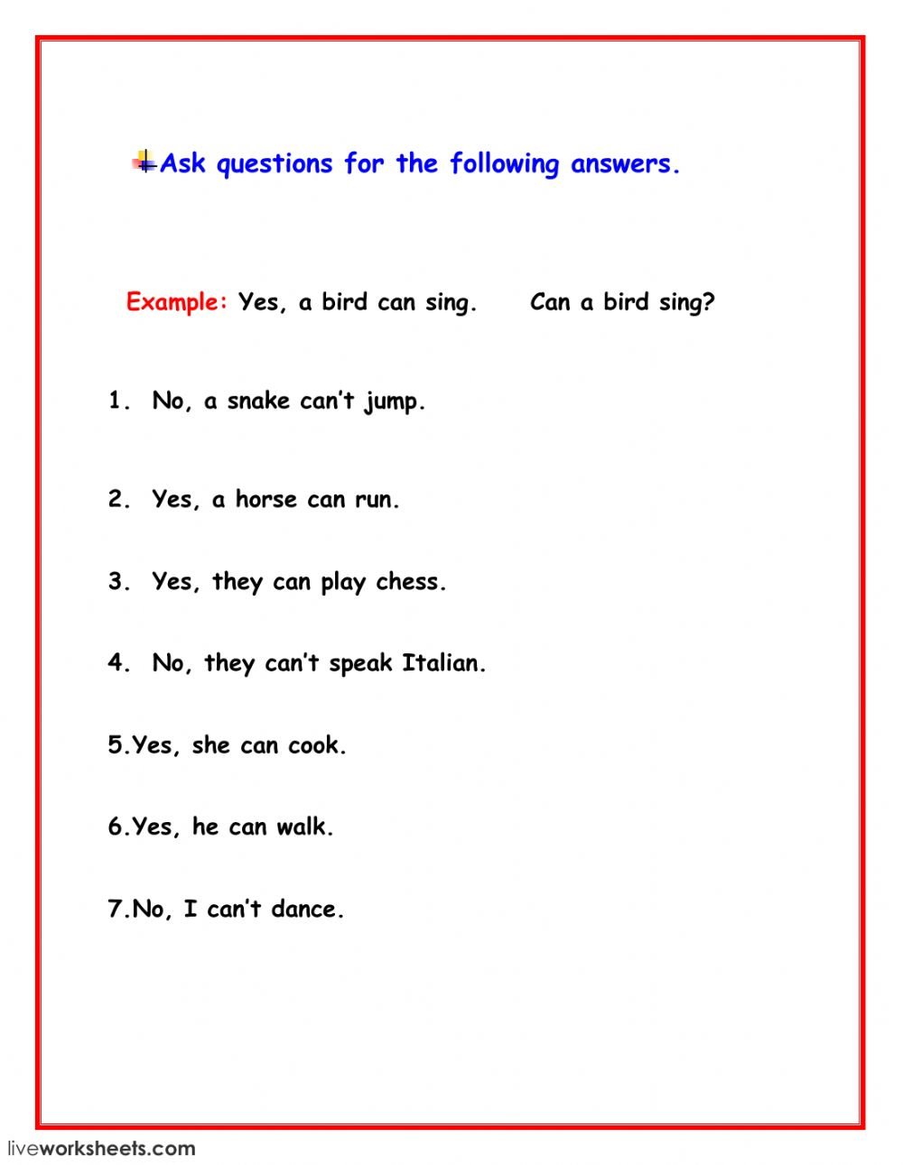 medium resolution of Yes No Questions worksheet