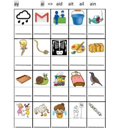 ai ay phonics worksheet [ 1291 x 1000 Pixel ]