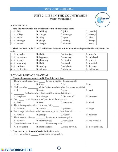 small resolution of Grade 8 - unit 2 - test 1 worksheet