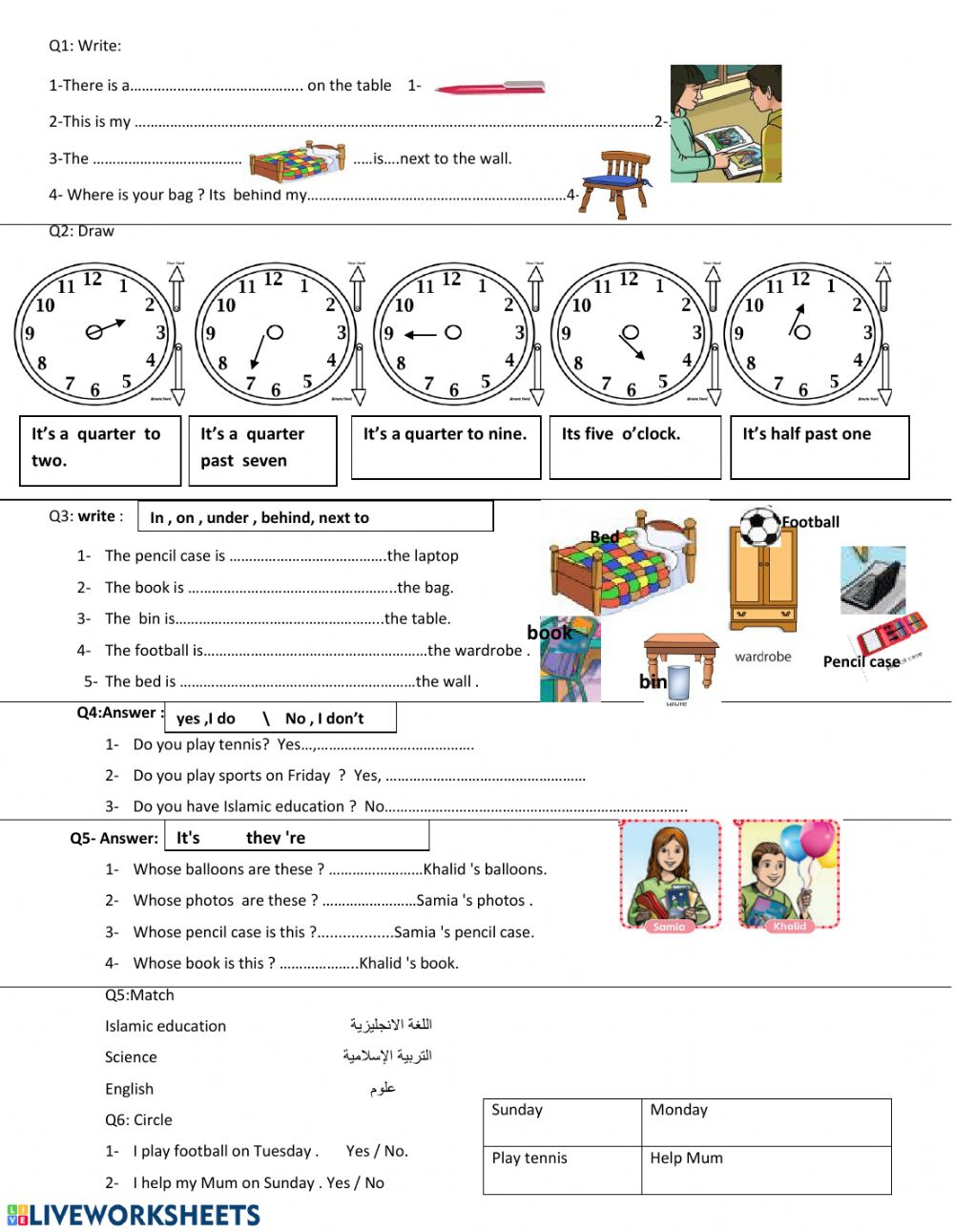 medium resolution of Review - unit 1 and 2 third grade worksheet