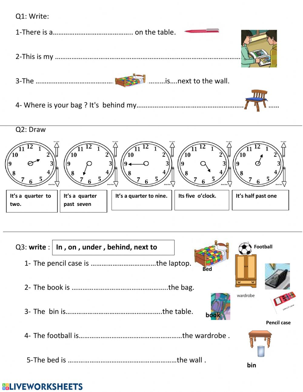 medium resolution of Review - unit 1 and 2 third grade interactive worksheet