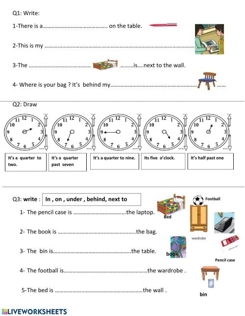 small resolution of Review - unit 1 and 2 third grade interactive worksheet