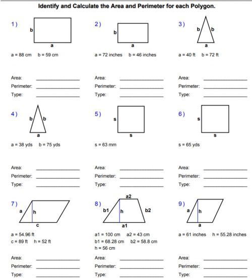small resolution of Areas and Perimeters of Polygons worksheet