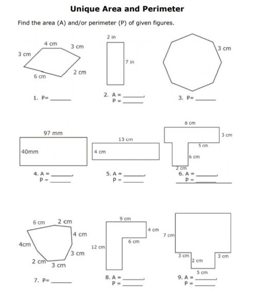 small resolution of Areas of polygons worksheet