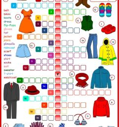 Clothes and accessories interactive worksheet [ 1413 x 1000 Pixel ]