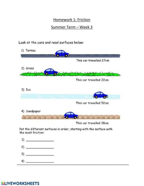 small resolution of Friction worksheet