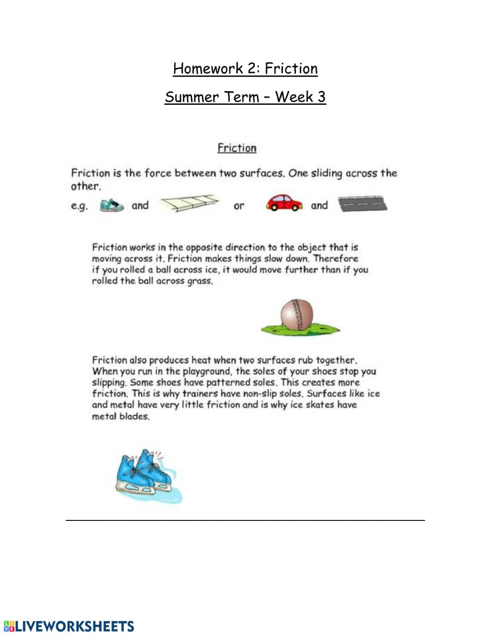 hight resolution of Friction interactive worksheet