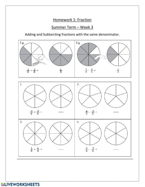 small resolution of Fractions activity