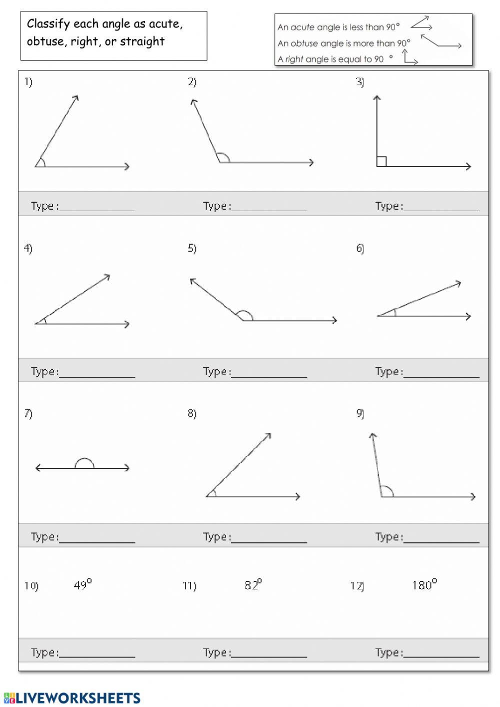hight resolution of Classify Angles worksheet