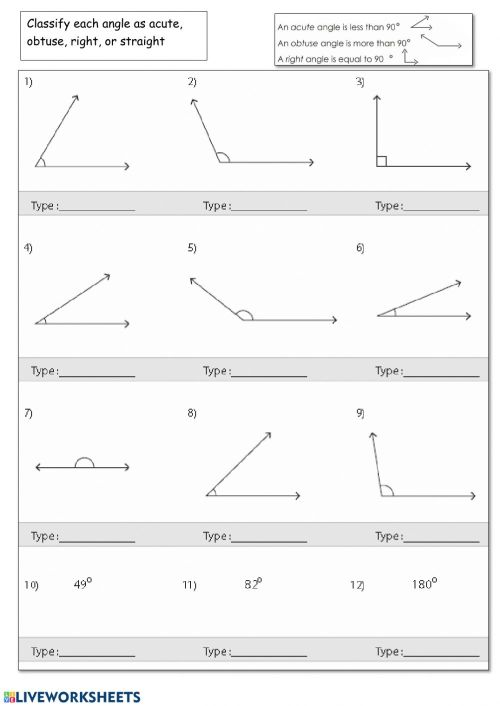 small resolution of Classify Angles worksheet