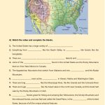 Usa Physical Features Geographical Features Worksheet