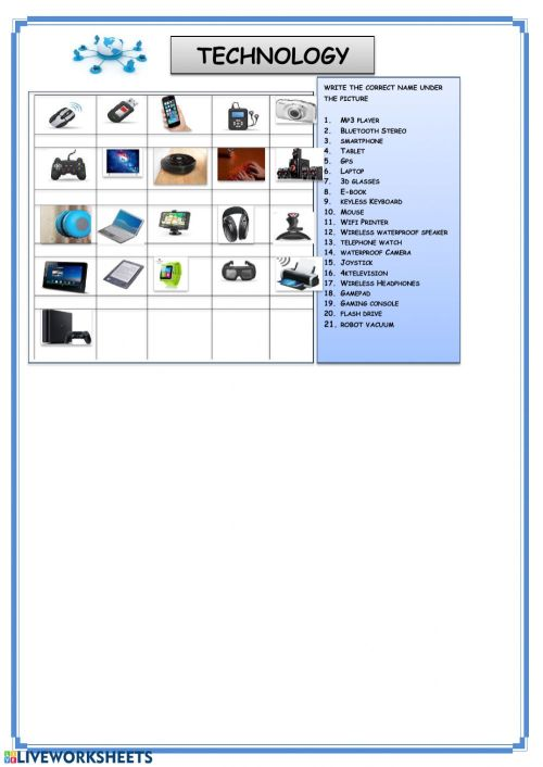 small resolution of Technology interactive worksheet