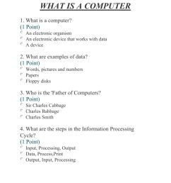 What is a Computer? worksheet [ 1291 x 1000 Pixel ]