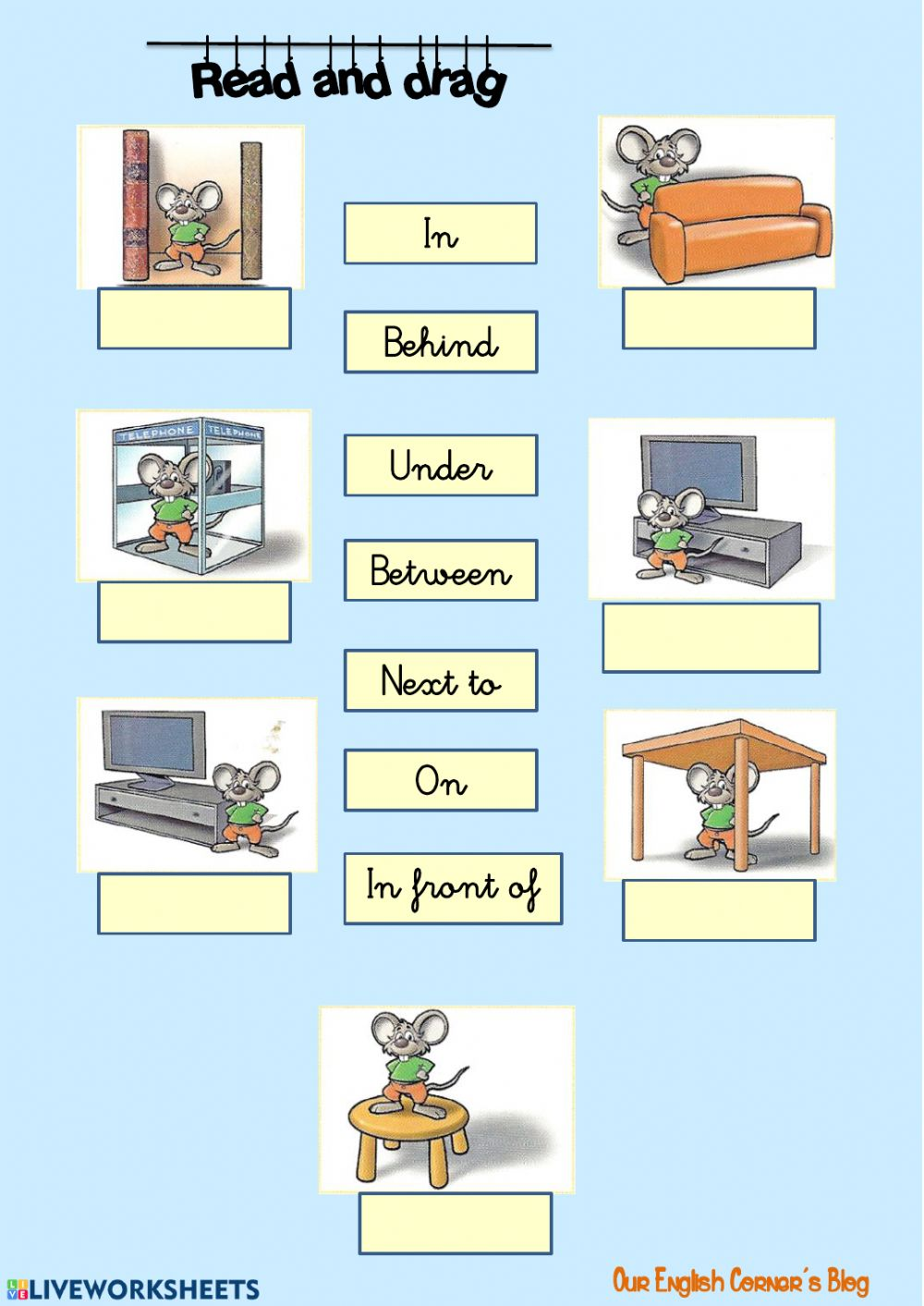 medium resolution of Prepositions of place interactive exercise