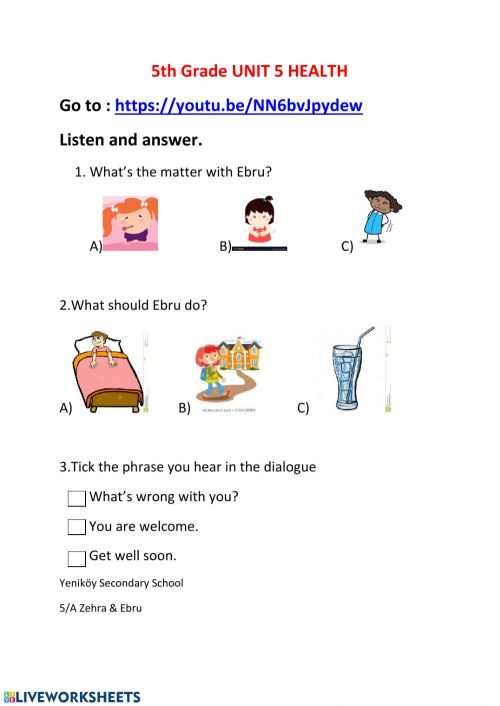 small resolution of Health online worksheet