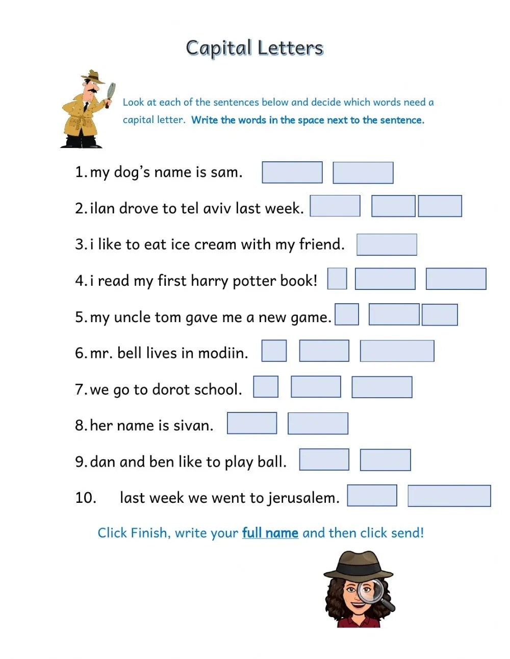 hight resolution of Capital Letters online exercise
