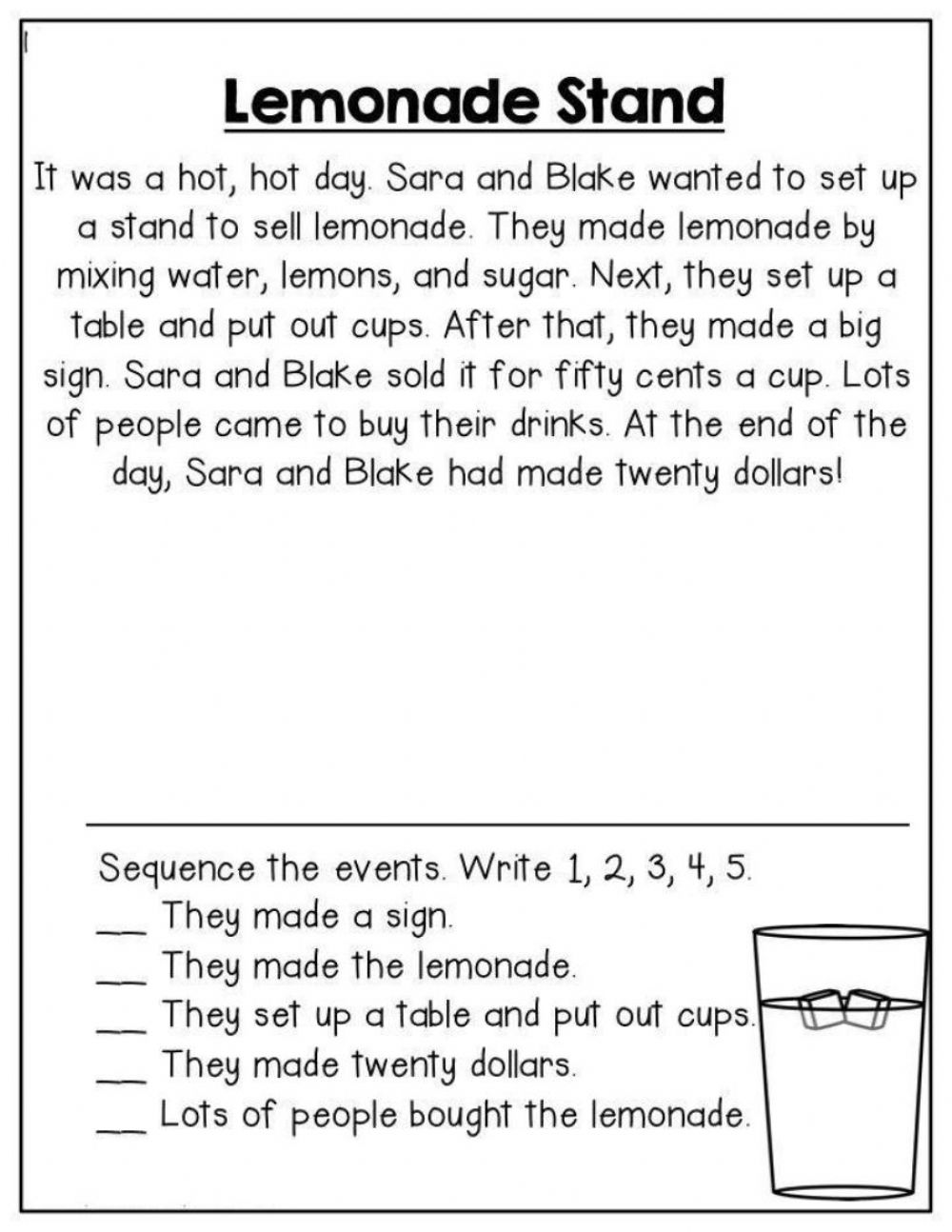 hight resolution of RL.3 - Story Sequence worksheet