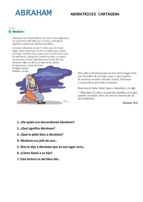 small resolution of Abraham online activity for 3º
