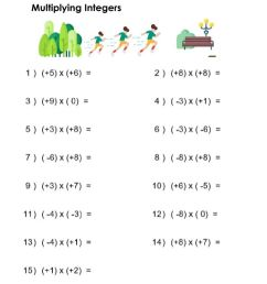Practice: Multiplying Integers worksheet [ 1291 x 1000 Pixel ]