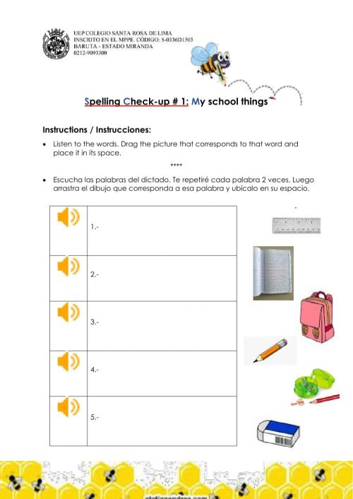 small resolution of 1st grade Spelling Check-up -1 worksheet