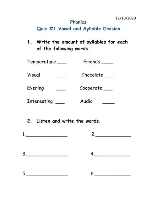 small resolution of Syllables interactive exercise