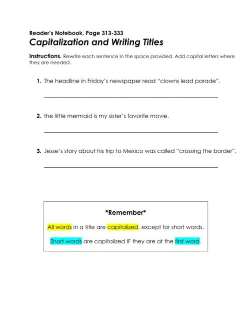 small resolution of Reader's Notebook p. 313-333 worksheet