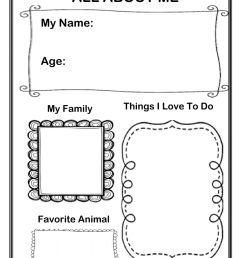 All About Me interactive exercise for Grade 1 [ 1291 x 1000 Pixel ]