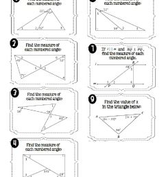 Interior Angles of Triangles worksheet [ 1291 x 1000 Pixel ]