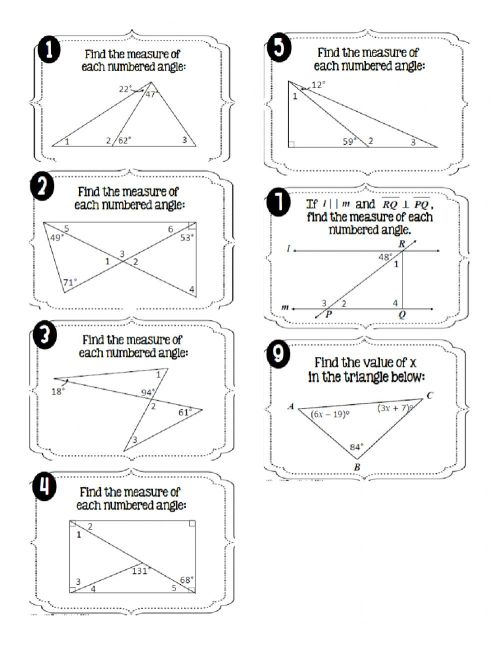 small resolution of Interior Angles of Triangles worksheet