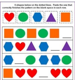 Pattern worksheet for Grade 4 [ 1497 x 1000 Pixel ]