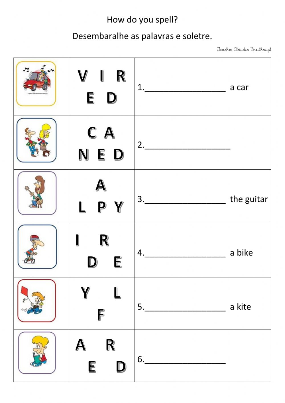 hight resolution of Spelling Practice worksheet for grade 3