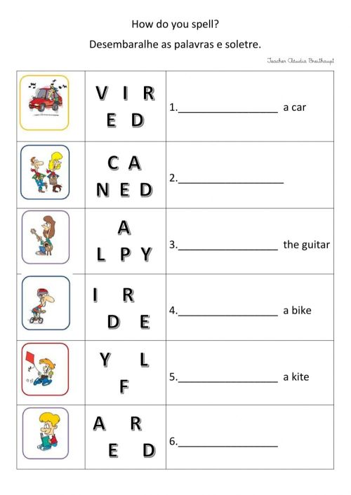 small resolution of Spelling Practice worksheet for grade 3