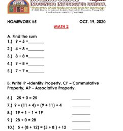 Addition and Properties of Addition interactive worksheet [ 1291 x 1000 Pixel ]