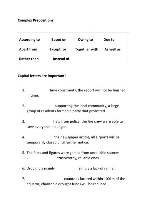 small resolution of Complex Prepositions worksheet