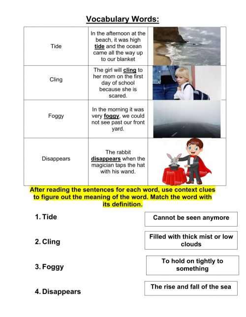 small resolution of Grade 3 context clues 11-2 worksheet
