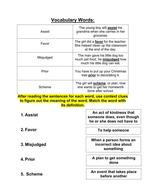 small resolution of Grade 4 Context Clues 10-26 worksheet