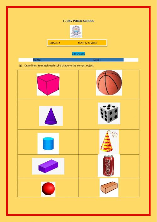 small resolution of 3 D shapes worksheet