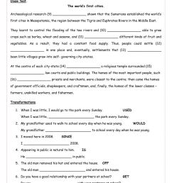Complete FCE. Revision units 1 to 9. Rephrasing and cloze test C. worksheet [ 1413 x 1000 Pixel ]
