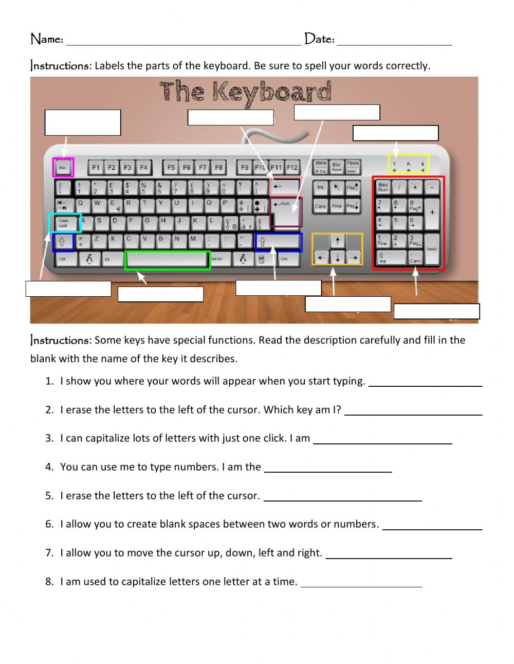 hight resolution of The Keyboard activity