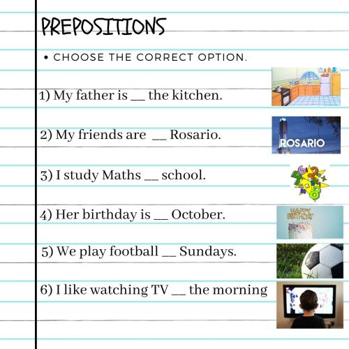 small resolution of Prepositions online exercise for GRADE 6