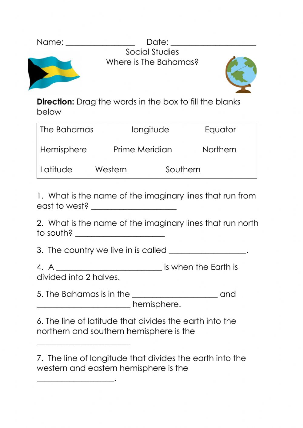 hight resolution of Where is The Bahamas activity