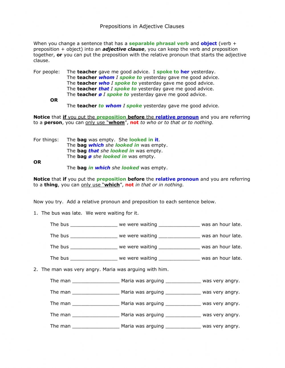 hight resolution of AG2 prepositions in adjectives clauses worksheet