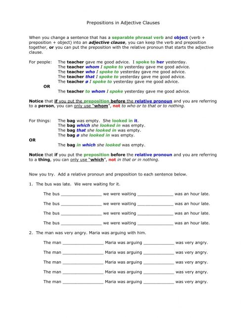 small resolution of AG2 prepositions in adjectives clauses worksheet