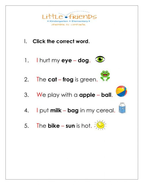 small resolution of Spelling interactive worksheet for 1st grade