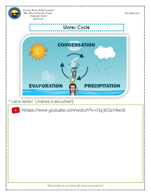 small resolution of 2nd Grade - Water cycle worksheet