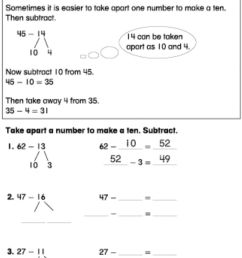 Take apart ten to subtract worksheet [ 1258 x 1000 Pixel ]