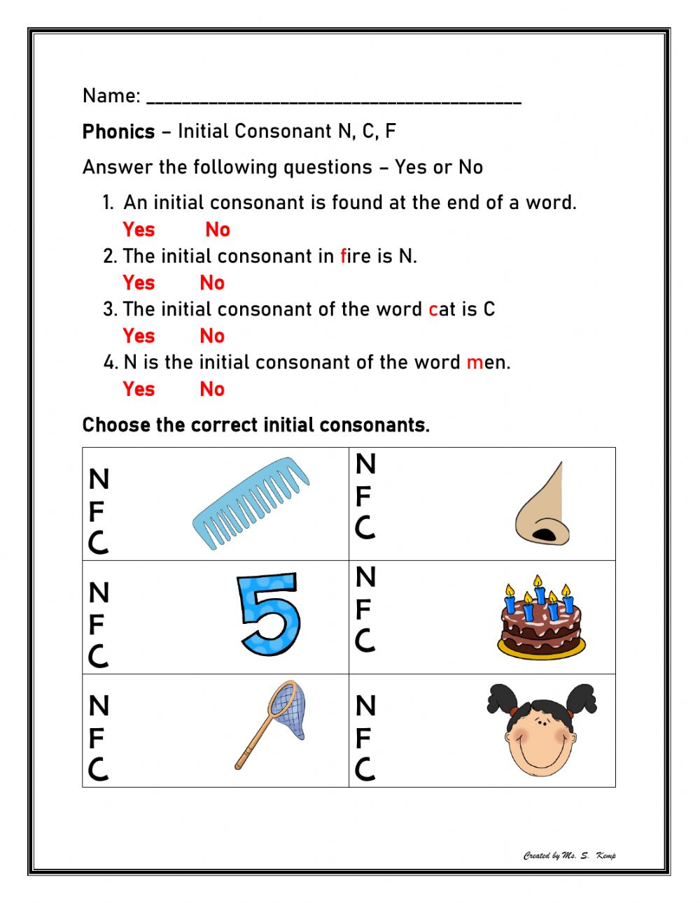 hight resolution of Initial Consonant N