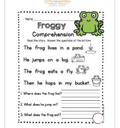 Reading Comprehension online exercise for 1st Grade [ 1291 x 1000 Pixel ]